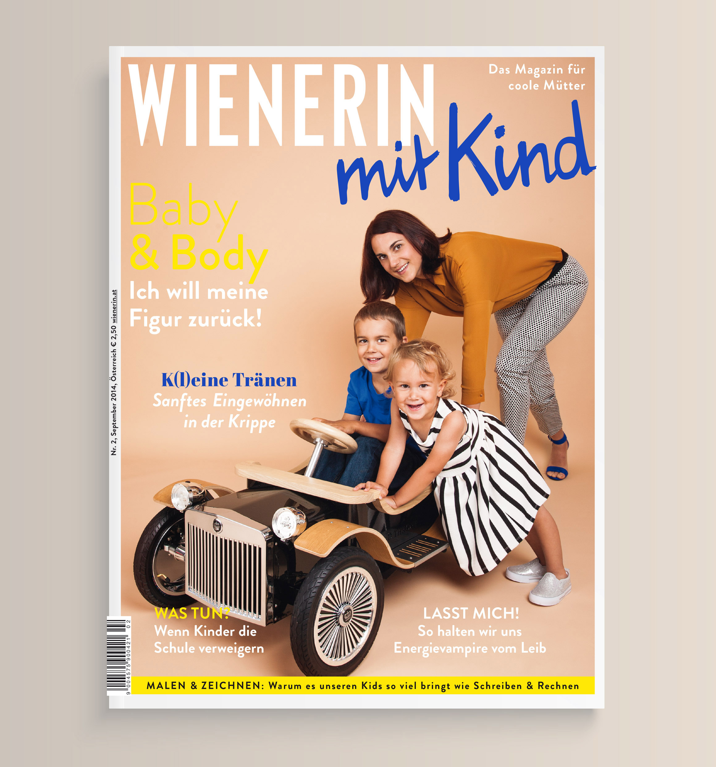 Grafikdesign Agentur Viktoria Platzer Editorial Design Wienerin mit Kind3