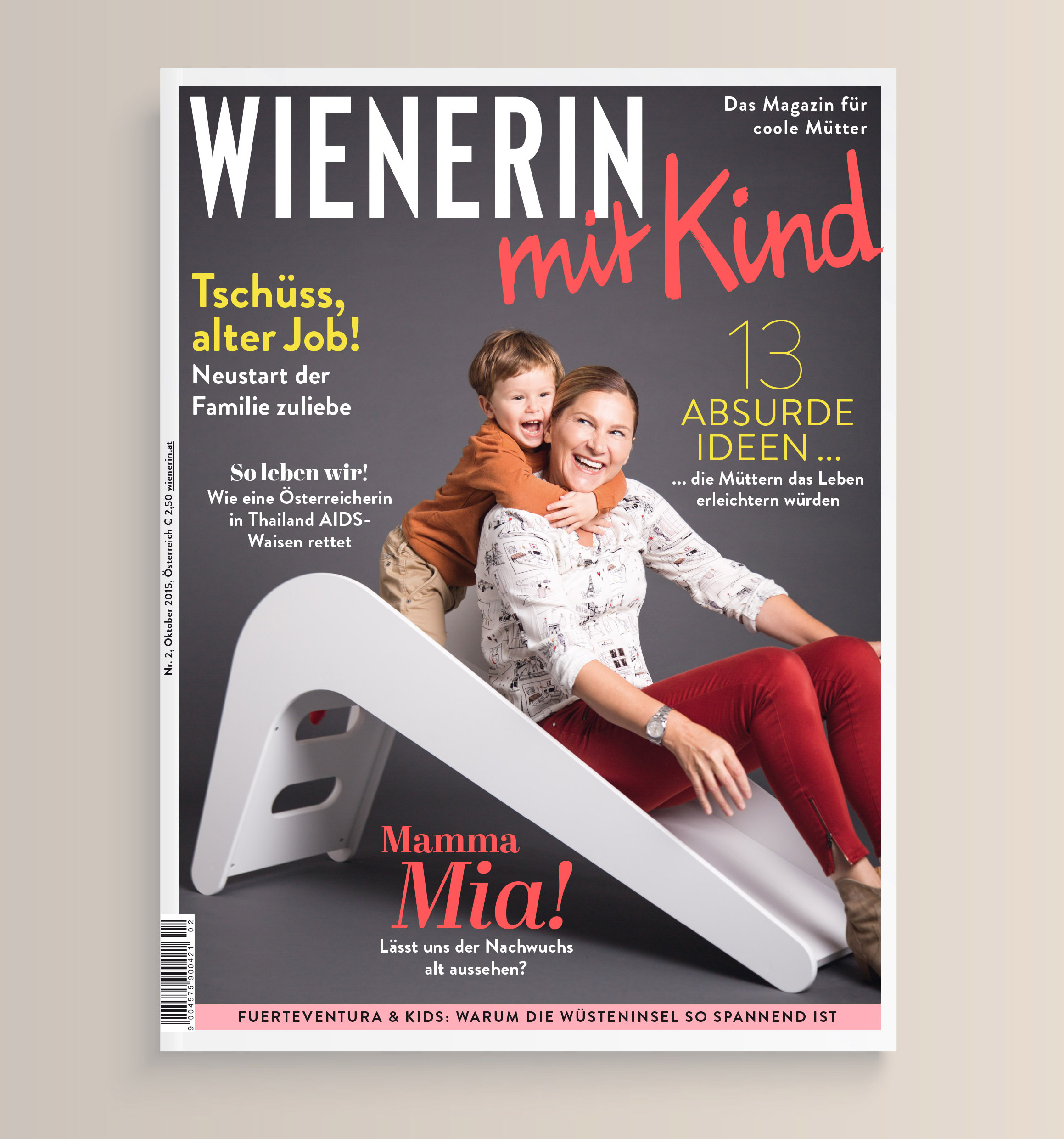 Grafikdesign Agentur Viktoria Platzer Editorial Design Wienerin mit Kind2