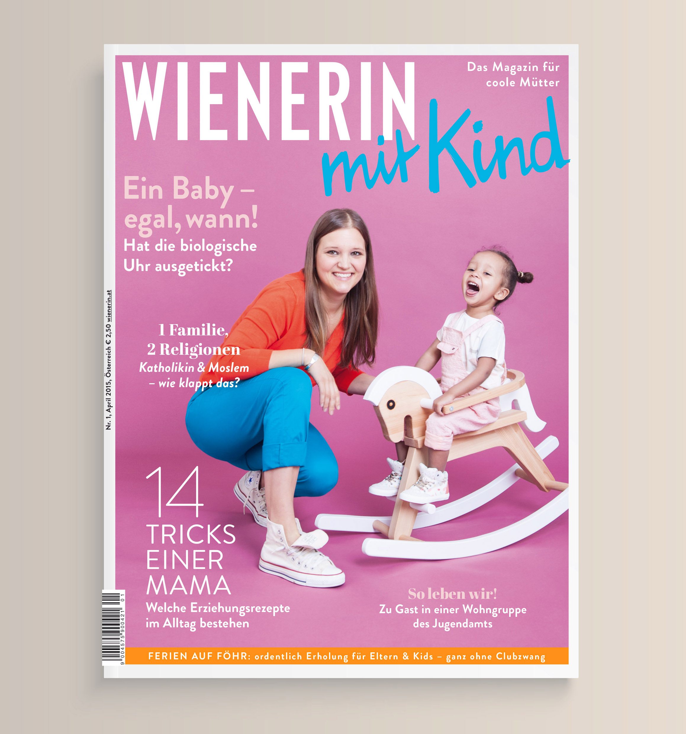 Grafikdesign Agentur Viktoria Platzer Editorial Design Wienerin mit Kind